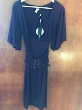 designer Miss Sixty purple 70's Style dress size small New With Tags