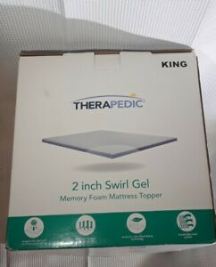 Therapedic 2-inch Swirl Gel Memory Foam KING Mattress Topper - NEW#967