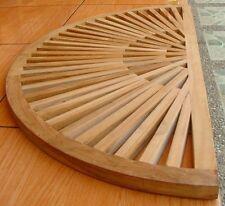 Grade-A Teak Wood Sun Burst Bath Spa Floor Mat Shower Outdoor Garden Patio New
