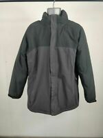 MENS REGATTA HYDRAFORT GREY BLACK HOODED COAT JACKET M MEDIUM