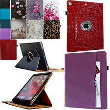 For iPad Air 1(2013)/Air 2(2014) 360 Rotating Smart Case Cover Stand With Pocket