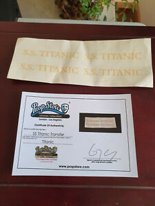 Extremely Rare! Titanic Original Screen Used Gold Transfer Ticket Movie Prop