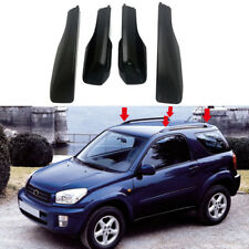 Black Roof Rails Rack End Cover Shell 4pcs For Toyota RAV4 XA20 2001-2005