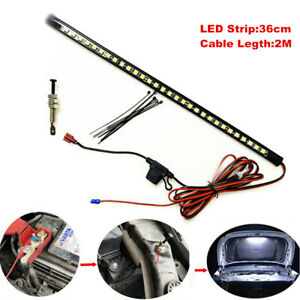LED Car Repair Light Strip Truck Under Hood Engine Bay Switch Control for Jeep