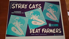 Stray Cats | Fillmore SF | Beat Farmers - Original 1988 Concert Poster