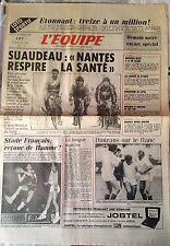L'Equipe Journal 5/11/1985; Nantes-Partizan/ Andersen/ Sundström/ Dintrans