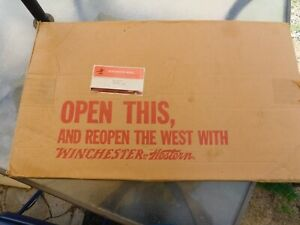 MINT 1965 Winchester Advertising Display Sign W/ Original Box Instructions