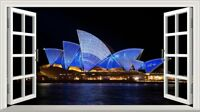 Australia Sydney Opera House Magic Window Wall Art Self Adhesive Poster V1*