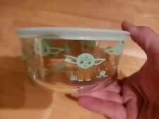 New ListingStar Wars The Child �Baby Yoda� Snacks Pyrex Storage Bowl Container Nwt