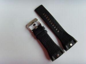 DIESEL Original Ersatzband Lederarmband DZ4183 Uhrband schwarz watch strap 34 mm