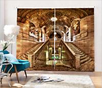 Photo Printing Curtains 3D Window Mural Blockout Draps Fabric Retro Palace 103