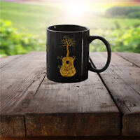 Mugs Ceramic Print on Both Sides Decorate Acoustic Guitar Tree of Life Nature