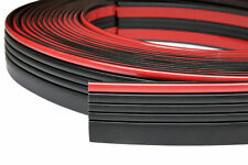 Zierleiste 55mm breit | schwarz rot | flexibel selbstklebend | Meterware
