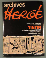 Tintin Archives Herge 1 Totor Soviets Congo Amerique Casterman EO 1973