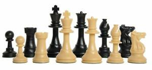 Wooden Chess Pieces, Tournament Wood Chessmen Pieces Only, 3.5Inch King Figures