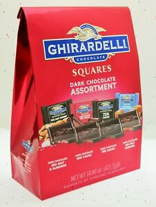 Ghirardelli Dark Chocolate Squares Assortment Geradeli Caramel Sea Salt Cacao