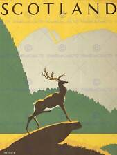 TOURISM TRANSPORT SCOTLAND STAG ANCHOR HIGHLANDS NEW ART PRINT POSTER CC4463