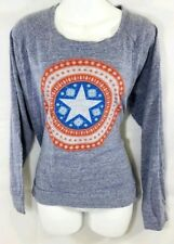 Marvel Womens Captain America Sweatshirt Size XL Lightweight Crewneck Sweater