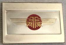 FARMAN AIRLINES 3.1 GRAMS STERLING SILVER BAR! ENAMELED EMBLEM FRANCE 1983