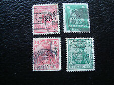 ALEMANIA - 4 sellos sellados (perforado) (A18) stamp germany