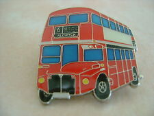 London Double Decker Bus Red Hat Pin Lapel Pin