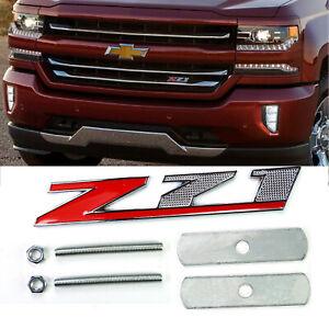 Metal Z71 Logo Front Grille Emblem Grill Badge for GMC Chevy Silverado Sierra