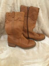 Marks & Spencer Leather Boots Size 3 Knee High Brown