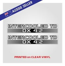 Intercooled TD Stickers - 4.2 Nissan Patrol - PRINT ON CLEAR GU GQ TD42 Turbo