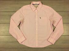 Abercrombie & Fitch A&F para Hombre camisa de mangas largas Musculosa Con Grande/Med Bebé Rosa