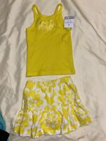 New Carter's Girls 2 Piece 4T Set Outfit Yellow Top w Floral Skort