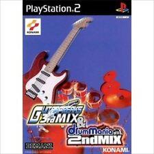 Used PS2 GitaDora! Guitar Freaks 3rd Mix & DrumMania 2nd Mix Japan Import