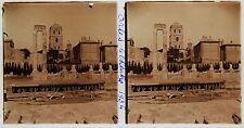 ARLES Stéréo amateur Plaque de verrepos. 1934 Vintage 7x13cm
