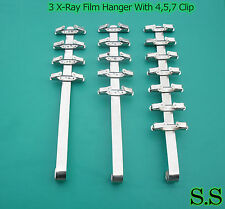 3 Pieces Dental X-ray Film Hanger With 4 Clip + 5 Clip + 7 Clip (Dental Supply)