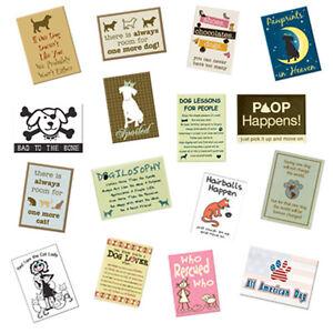 "Dog Speak 2.5"" x 3.5"" Magnets with Dog & Cat Sayings - Choose Saying"