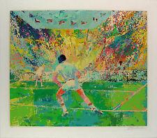 "Leroy Neiman ""Stadium Tennis"" Outdoor Doubles Tennis match hand signed# serig."