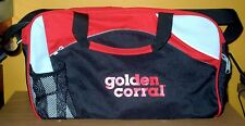 Golden Corral Duffel Bag W/Shoulder Strap. Black, Red & Gray. Free USA Shipping!