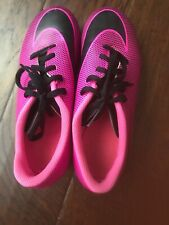 Nike Jr. Bravata II Kids Firm-Ground Soccer Cleats 844442-800 Pink Black 4Y EUC