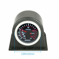 "2"" 52mm Universal Car LED Turbo Boost Gauge Meter Pointer 0-30 PSI W/ Pod Smoke"