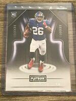 Saquon Barkley 2018 Panini Playbook New York Giants Rookie Card #111