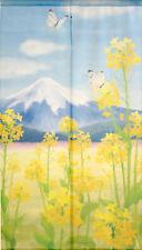 Japanese  Noren Curtain NANO FLOWER FUJI MADE IN JAPAN