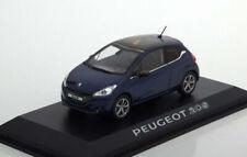 NOREV 472800 Peugeot 208 3 Portes Échelle 1/43 2012 Voiture - Virtual Blue