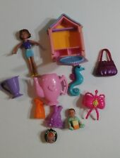 GIRL TOYS Assorted 10 Toy Figures, Parts And Pieces Lot DOLL HOUSE Sea Horse +++