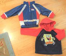 Boys 18m Lot SpongeBob Fleece Hoodie~Zip Neck Pullover Windbreaker Light Jacket