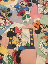 Walt Disney Minnie Mouse Twin Size Flat Sheet Vintage Child Bedding Gently Used