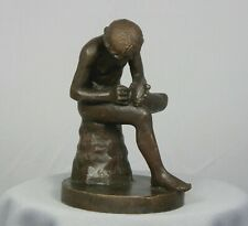 BOY WITH THORN Sculpture Nude Boy Bronze Reproduction Statue