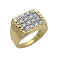 14K Yellow Gold Over 2.50 Ct Round Cut Diamond Engagement Band Ring For Men's