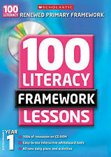 100 New Literacy Framework Lessons for Year 1 with CD-Rom by Sylvia Clements,...