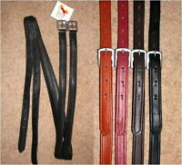 FSS SOFT No Stretch Bonded Nylon Reinforced Long Saddle Nappa Stirrup Leathers