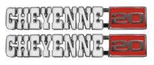 """71-72 Chevrolet C/K Pick Up Pickup Truck """" CHEYENNE 20 """" Fender Emblem USA PAIR"""