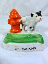 Vintage Japan Ashtray  -  No Parking  -  Made in Japan  -  Dog using Hydrant